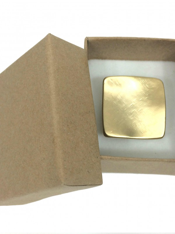 Sigal Levi leather ring in a box