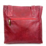 Maroon bag sigal levi rear view