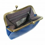 Blue Leather Purse from Sigal Levi Leather Design open1