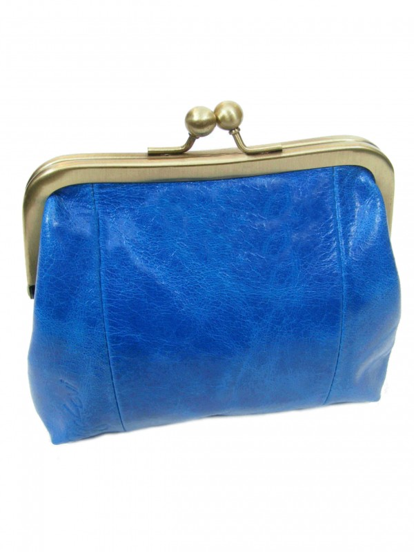 Blue Leather Purse from Sigal Levi Leather Design