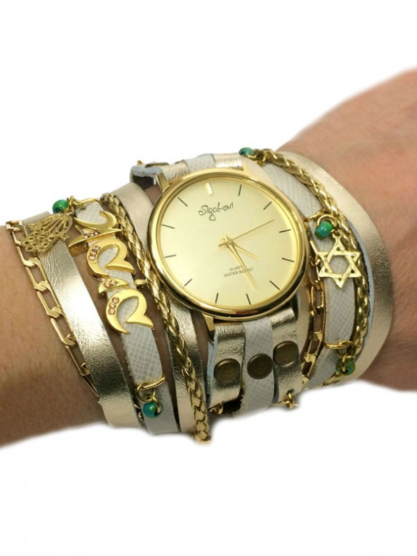 Personalized Wrap Watch with Hebrew Name
