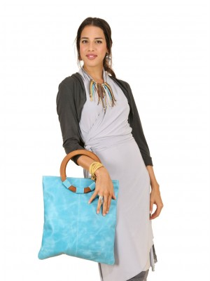pale blue bag on model full size