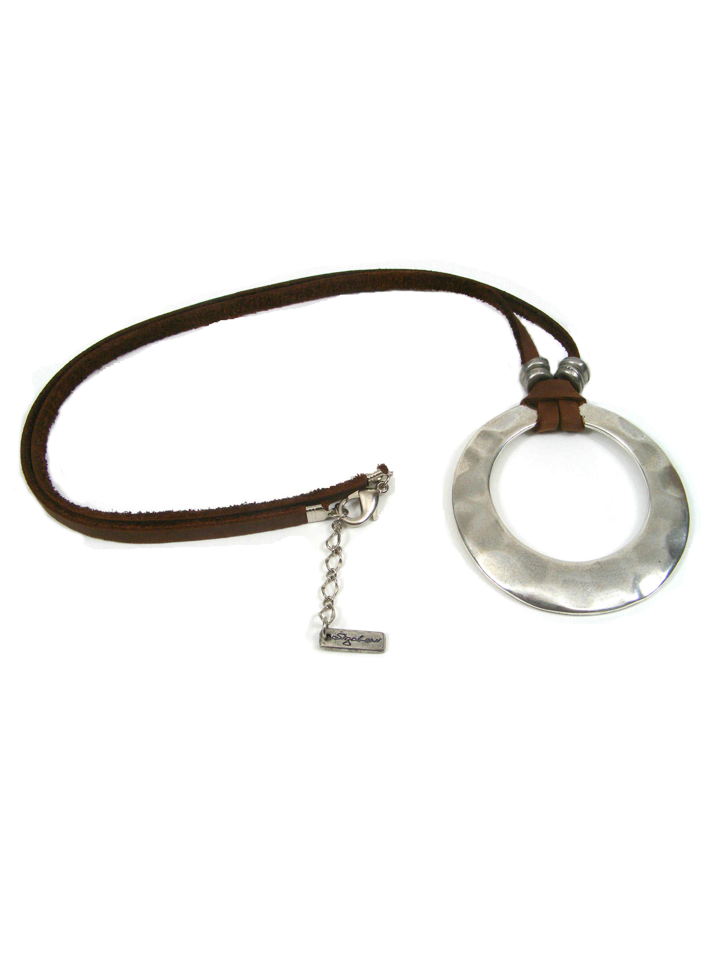 leather marni gallery pendant in product normal jewelry mill metallic lyst horn necklace