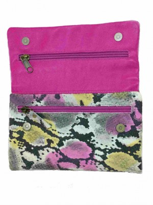 colorful leather women wallets
