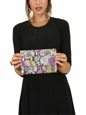 colorful leather women wallets by sigal levi with model