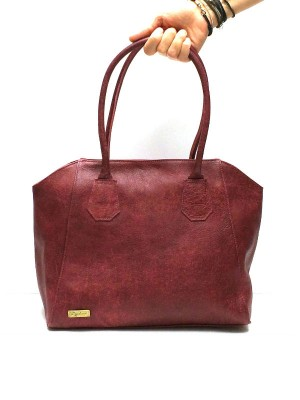 Maroon Leather Handbag