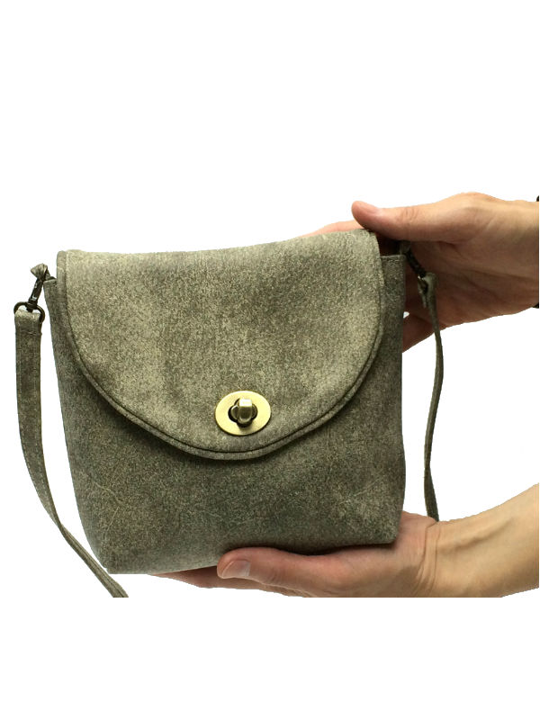 Small Shoulder Bag In Stone Color Leather